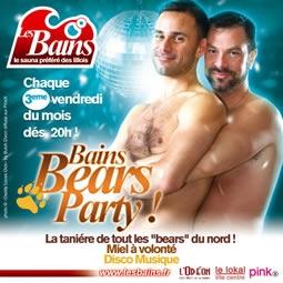 Hot Bears Party,  Vendredi 16 Mars  dés 20 h,